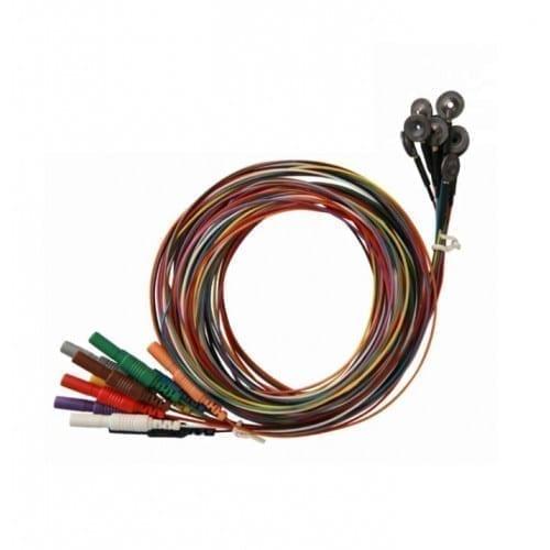 """Electrodos Maxxigold Cup 96"""" (EEG/EMG) Neurovirtual (10 cables)"""