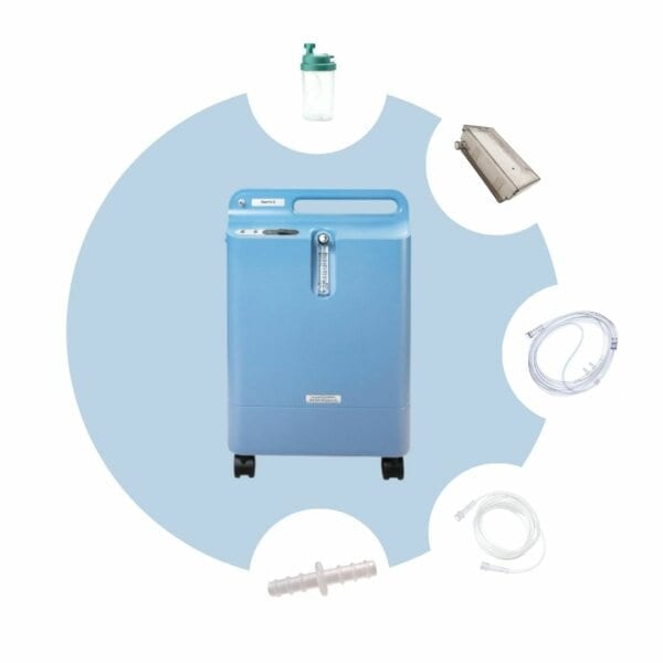 Pack Concentrador de Oxígeno Everflo - MGM Productos Médicos